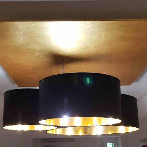 paolorossi.com Paralumi su misura sospensioni da soffitto nero interno oro
