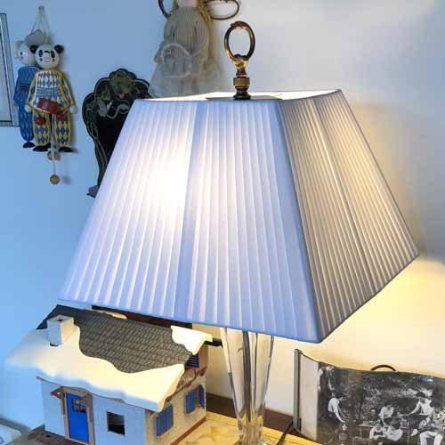 Paralume plissettato avorio su telaio squadrato - paolorossi.com